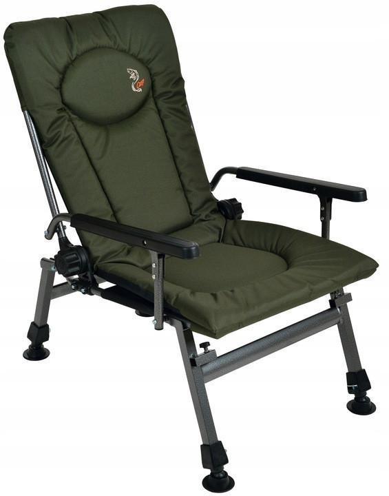 Крісло коропове рибальське Elektrostatyk F5R з підлокітниками, 2020 Нова модель
