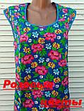 Платье без рукава 60 размер Розовые цветы, фото 8