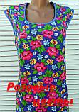 Платье без рукава 60 размер Розовые цветы, фото 9