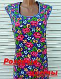 Платье без рукава 60 размер Розовые цветы, фото 10