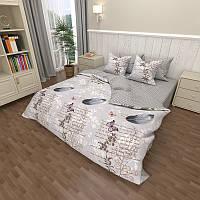 Комплект постельного белья Наша Швейка Бязь Перо на сером фоне Полуторный 150х215 см