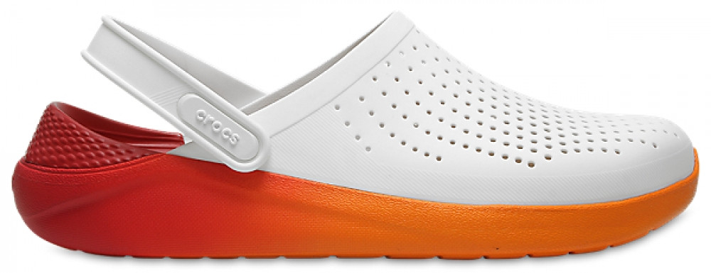 Кроксы мужские Crocs LiteRide™ Clog бежево-оранжевые 43 р.