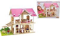 Дом для кукол Eichhorn Розовая мечта с 4 куклами и 27 аксессуарами (100002513)