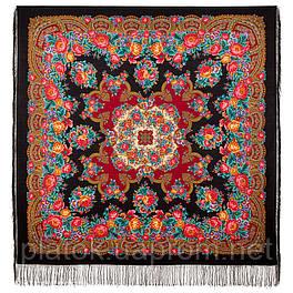 Дворянское гнездо 1910-18, павлопосадский платок шерстяной  с шелковой бахромой