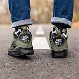 Мужские зимние кроссовки Nike Air Max 90 khaki, кроссовки зимние Найк Аир Макс 90 (Реплика ААА), фото 4