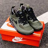Мужские зимние кроссовки Nike Air Max 90 khaki, кроссовки зимние Найк Аир Макс 90 (Реплика ААА), фото 5