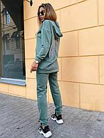 Женский спортивный костюм с удлиненным худи и светоотражающей накаткой на спине 22SP1101, фото 1