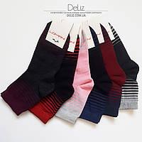 Жіночі шкарпетки Lomani 6025 смужка. Розмір 36-39, колір сірий з св.-сірими смужками
