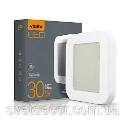 Светодиодный LED светильник ART ЖКХ квадратный VIDEX 30W IP65 5000K