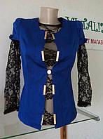 Стильный  женский  синий жакет   Letta
