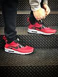 Мужские зимние кроссовки Nike Air Max 90 red, кроссовки зимние Найк Аир Макс 90 (Реплика ААА), фото 3