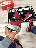 Мужские зимние кроссовки Nike Air Max 90 red, кроссовки зимние Найк Аир Макс 90 (Реплика ААА), фото 8