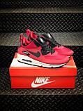 Мужские зимние кроссовки Nike Air Max 90 red, кроссовки зимние Найк Аир Макс 90 (Реплика ААА), фото 7