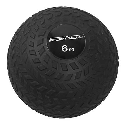 Слэмбол (медицинский мяч) для кроссфита SportVida Slam Ball 6 кг SV-HK0348 Black, фото 2