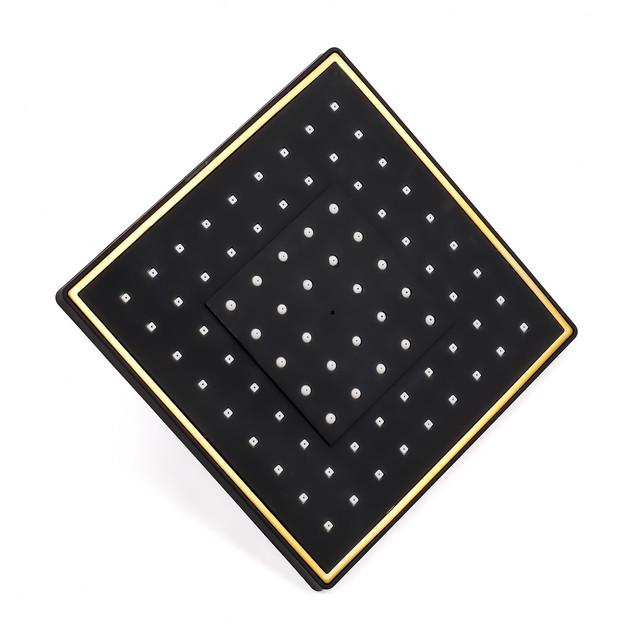 Лейка верхнего душа для душевой системы WEMI SB-13 GOLD квадратной формы с размерами 200 на 200 мм.