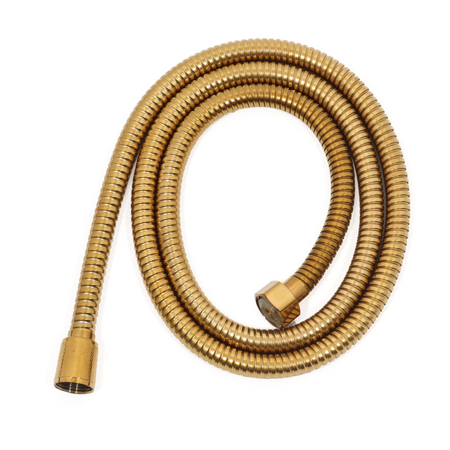 Гибкий шланг для душевой системы WEMI SB-13 GOLD используется для подключения лейки ручного душа, длина 1,5 метра.