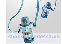 Бутылка детская для воды с трубочкой Животные, фото 1