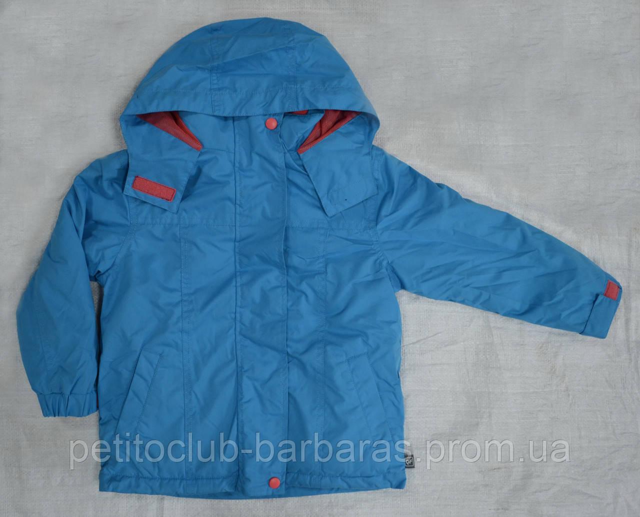 Детская куртка-ветровка с флисовой подстежкой голубая (QuadriFoglio, Польша)
