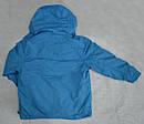 Детская куртка-ветровка с флисовой подстежкой голубая (QuadriFoglio, Польша), фото 2