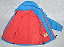 Детская куртка-ветровка с флисовой подстежкой голубая (QuadriFoglio, Польша), фото 5