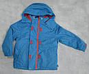 Детская куртка-ветровка с флисовой подстежкой голубая (QuadriFoglio, Польша), фото 7