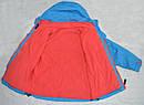 Детская куртка-ветровка с флисовой подстежкой голубая (QuadriFoglio, Польша), фото 6