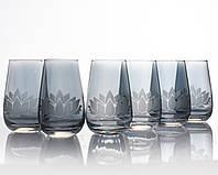 Набор стаканов Лотос аметист для воды 350 мл, 6 шт.
