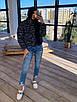 Женская короткая зимняя куртка со светоотражащим разноцветным эффектом (р. 42-46) 66ki462Q, фото 2