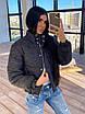 Женская короткая зимняя куртка со светоотражащим разноцветным эффектом (р. 42-46) 66ki462Q, фото 3