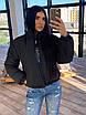 Жіноча двостороння світловідбиваюча коротка куртка на зиму з коміром стійкою (р. 42-46) 66ki463Q, фото 5