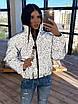 Жіноча двостороння світловідбиваюча коротка куртка на зиму з коміром стійкою (р. 42-46) 66ki463Q, фото 7