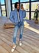 Жіноча двостороння світловідбиваюча коротка куртка на зиму з коміром стійкою (р. 42-46) 66ki463Q, фото 9