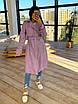 Женский кожаный тренч на замше, на запах, под пояс, в расцветках (р. 42-46) 66lt291Q, фото 4