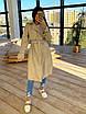 Женский кожаный тренч на замше, на запах, под пояс, в расцветках (р. 42-46) 66lt291Q, фото 6