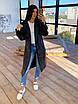 Женский кожаный тренч на замше, на запах, под пояс, в расцветках (р. 42-46) 66lt291Q, фото 8