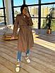 Женский кожаный тренч на замше, на запах, под пояс, в расцветках (р. 42-46) 66lt291Q, фото 9