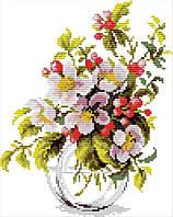 Набор для вышивания крестом 23х30 Яблоневый цвет Joy Sunday H855, фото 1