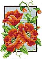 Набор для вышивания крестом 19х28 Маки (3) Joy Sunday H243, фото 1