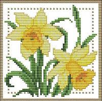 Набор для вышивания крестом 17х17 Нежный цветок (3) Joy Sunday H425, фото 1