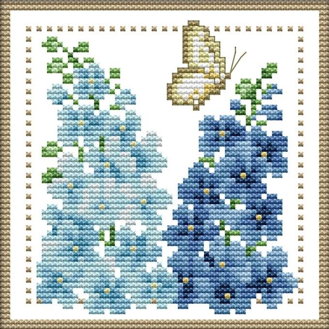 Набор для вышивания крестом 17х17 Нежный цветок (7) Joy Sunday H429