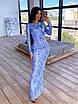 Длинное вечернее платье из сетки с узорами из пайеток, по фигуре, с длинным рукавом 66ty1624Е, фото 8
