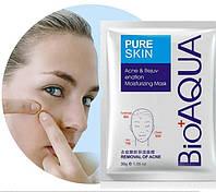 Тканевая маска для проблемной кожи лица BioAqua Pure Skin Acne & Rejuvenation Moisturizing Mask (30г)