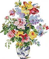 Набір для вишивання хрестом 68х81 Квітучі квіти Joy Sunday H397, фото 1
