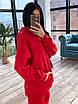 Женский утепленный спортивный костюм со свободным удлиненным худи (р. 42-46) 66rt1094Q, фото 2