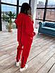 Женский утепленный спортивный костюм со свободным удлиненным худи (р. 42-46) 66rt1094Q, фото 4