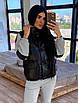 Женский спортивный костюм двойка - теплый комбинезон и черный кожаный жилет (р. 42-46) 66rt1096Q, фото 4