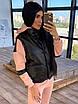 Женский спортивный костюм двойка - теплый комбинезон и черный кожаный жилет (р. 42-46) 66rt1096Q, фото 6