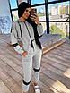 Женский спортивный костюм двойка - теплый комбинезон и черный кожаный жилет (р. 42-46) 66rt1096Q, фото 9
