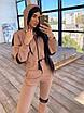 Женский спортивный костюм двойка - теплый комбинезон и черный кожаный жилет (р. 42-46) 66rt1096Q, фото 10