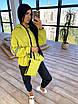 Женский спортивный костюм из плащевки на подкладе с кофтой на молнии и с капюшоном 66rt1097Е, фото 2